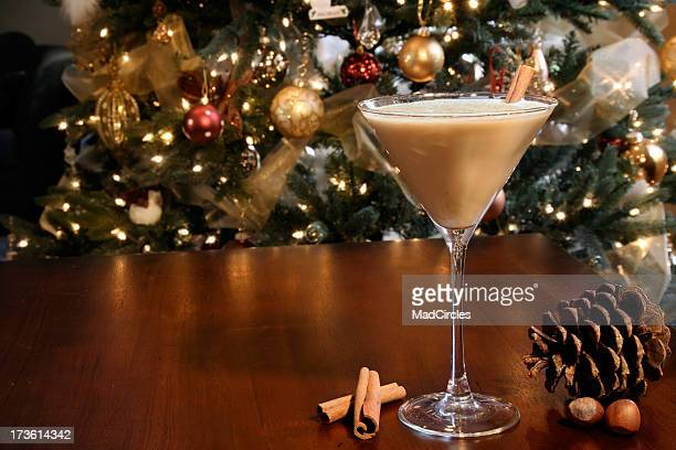 holiday cocktail - eggnog stock photos and pictures