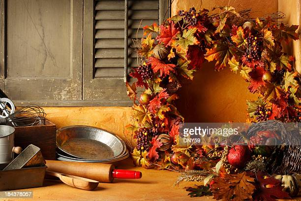 holiday cooking - old fashioned thanksgiving stock photos and pictures