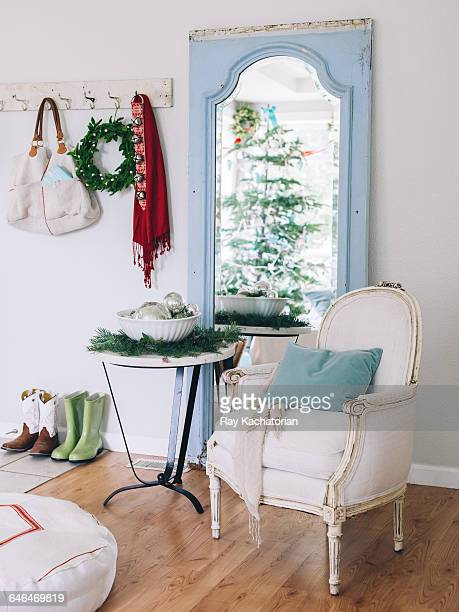 Holiday decor with chair