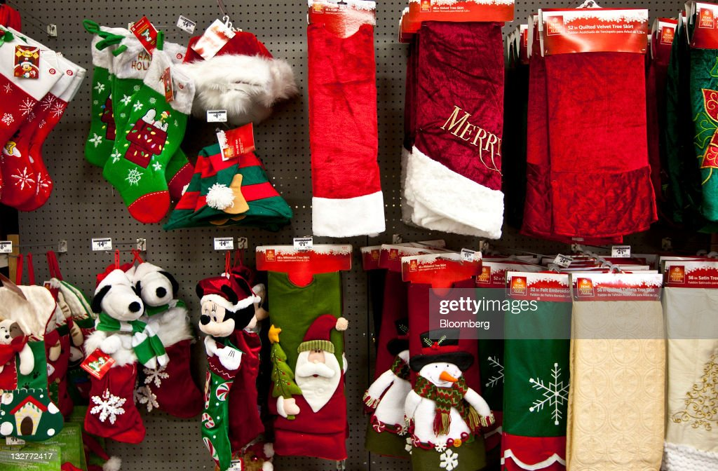 Holiday Decorations Are Displayed For Sale At A Home Depot Inc Store In Charlotte