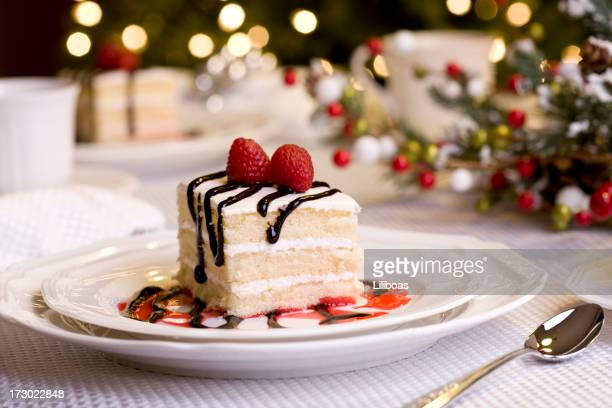 holiday dining (xxl) - christmas cake stock photos and pictures