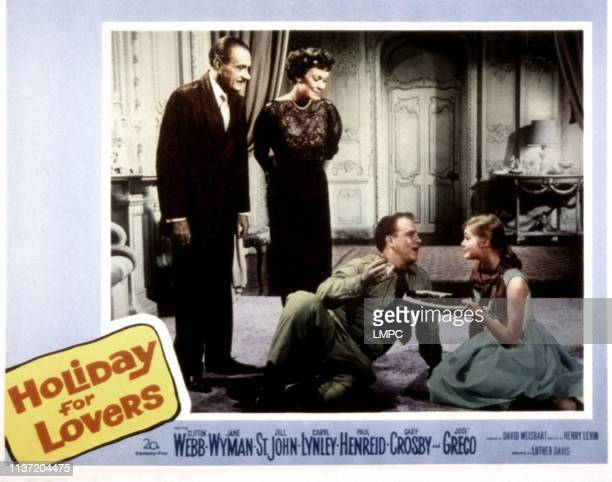 Holiday For Lovers poster Clifton Webb Jane Wyman Gary Crosby Carol Lynley 1959