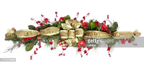 holiday garland - christmas garland stock pictures, royalty-free photos & images