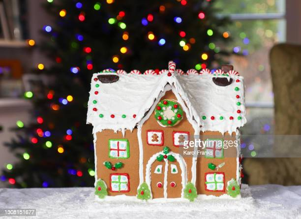 holiday gingerbread house - pasadena california stock pictures, royalty-free photos & images