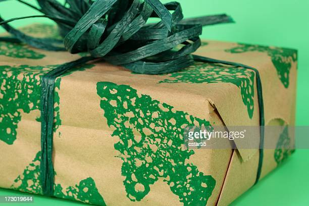 Holiday: Going Green Christmas wrapped present