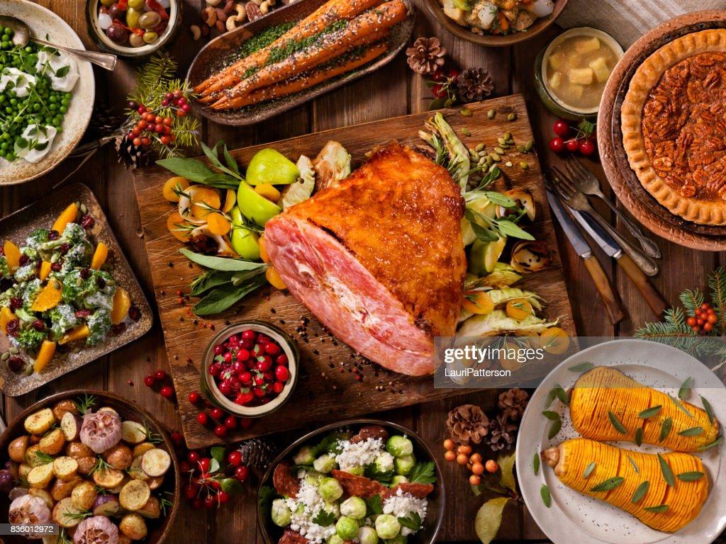 Holiday skinka middag : Bildbanksbilder