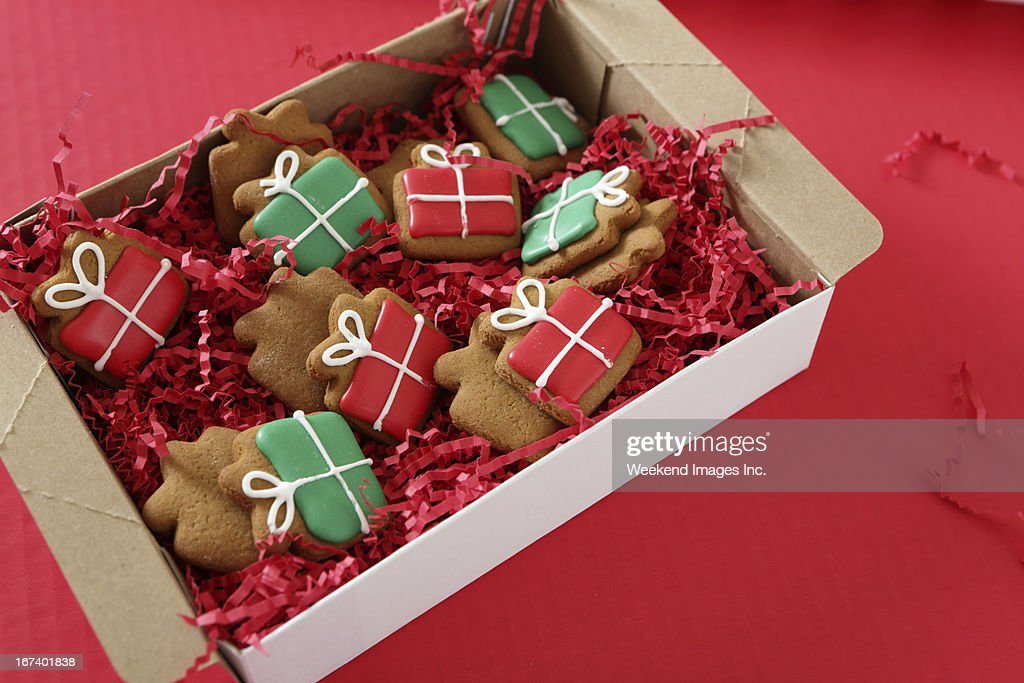 Holiday handmade cookies : Stock Photo