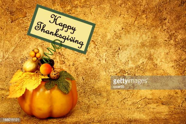 Holiday: Happy Thanksgiving Pumpkin with note card