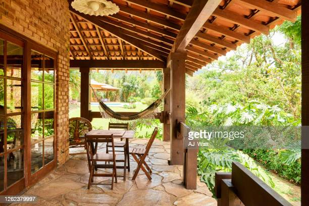 holiday home veranda - grounds stock pictures, royalty-free photos & images