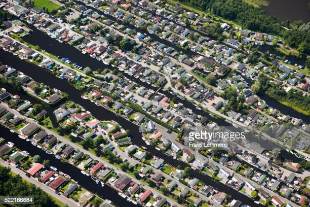 holiday houses in loosdrecht - north holland stock pictures, royalty-free photos & images