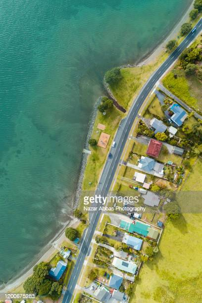 holiday houses. - whangarei heads stock pictures, royalty-free photos & images