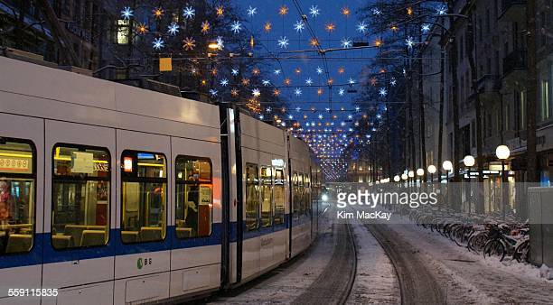 Holiday lights in Zurich