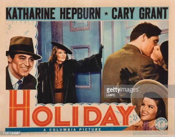 Holiday lobbycard Cary Grant Doris Nolan Katharine Hepburn 1938