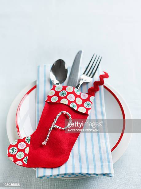 holiday place setting - letter p stock pictures, royalty-free photos & images