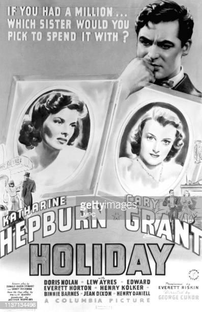 Holiday poster Katharine Hepburn Cary Grant Doris Nolan 1938
