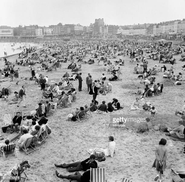 Holiday scenes in Margate Kent August 1963