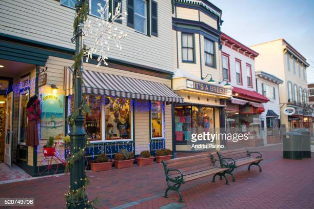 holiday season at cape may - cape may stock pictures, royalty-free photos & images