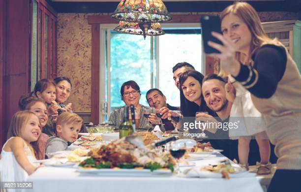 holiday season - large family stock pictures, royalty-free photos & images