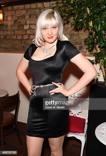 Holiday Sidewinder attends An Evening With Mademoiselle Fifi at JeanJacques on September 19 2015 in London England