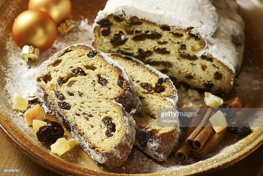 Holiday stollen : Stock Photo