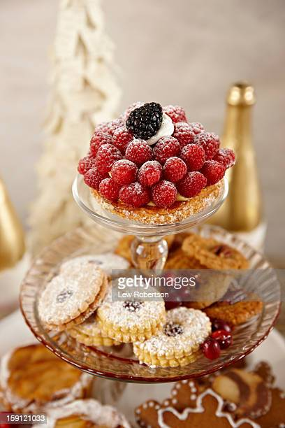 Holiday tart and cookies