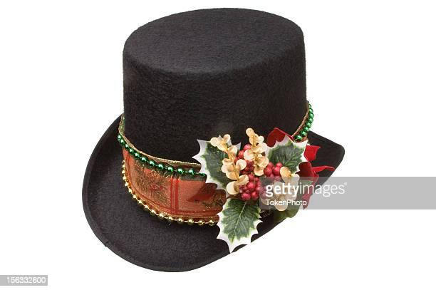 holiday top hat - top hat stock pictures, royalty-free photos & images