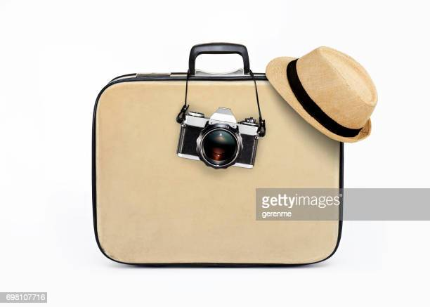 holiday travelling - yellow hat stock pictures, royalty-free photos & images