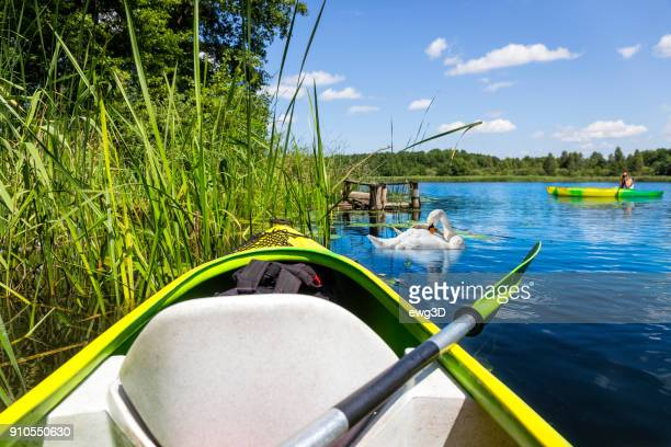 Holiday with a canoe in the Krutynia river in Masuria land, Poland