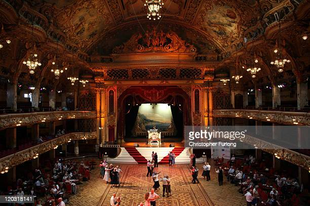 Holidaymakers and dancing enthusiasts move to the sound of Blackpool Tower Ballroom's famous Wurlitzer organ on August 3 2011 in Blackpool England...