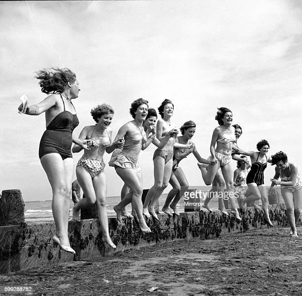 Holidaymakers at Bognor Regis. 12th July 1960.