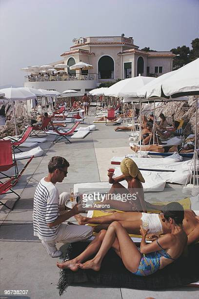 Holidaymakers at the Hotel du Cap EdenRoc Antibes on the French Riviera 1969