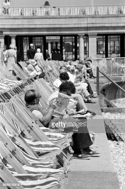 Holidaymakers enjoying themselves at Eastbourne East Sussex during the summer of 1976 19th June 1976