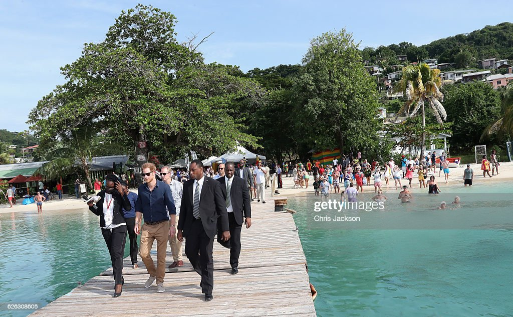 Prince Harry Visits The Caribbean - Day 9 : News Photo