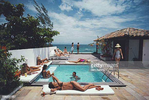 Holidaymakers in Armacao dos Buzios Brazil January 1983