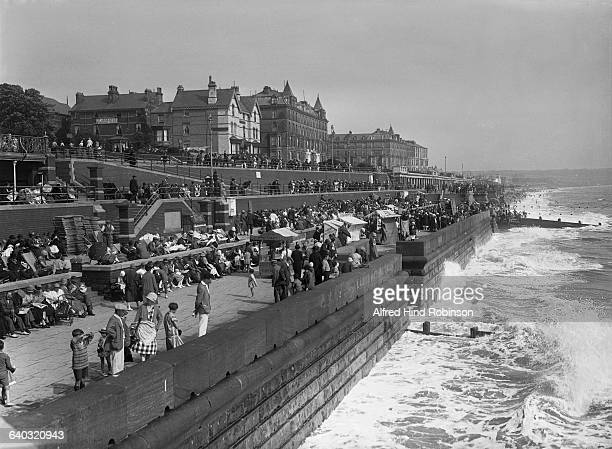Holidaymakers relaxing on the promenade at Bridlington in the East Riding of Yorkshire, 30th August 1926.