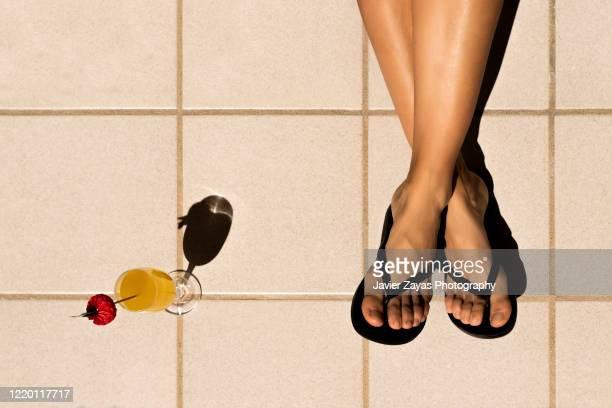 holidays at home - sandale stock-fotos und bilder