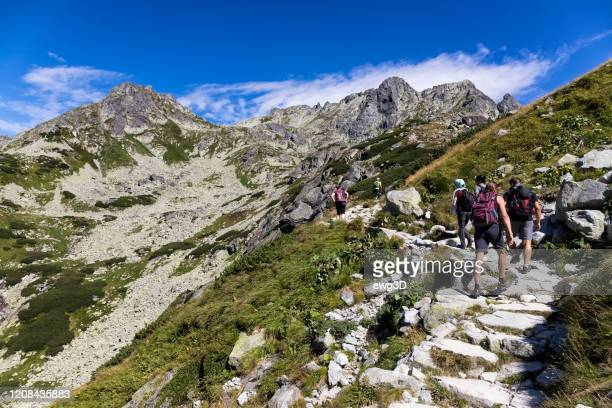 holidays in slovakia - tatra mountains in summer - slovakia stock pictures, royalty-free photos & images
