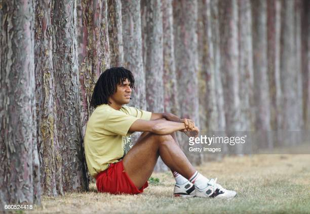 Holland and AC Milan player Ruud Gulllit pictured during a feature shoot circa 1991