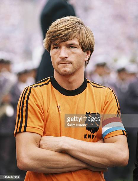 Holland captain Jan Peters looks on before a Gold Cup match between Netherlands and Italy in MonteVideo on January 6 1981 in Uruguay