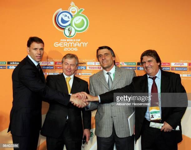 Holland coach Marco Van Basten , Argentina's assistant coach Hugo Ticali, Ivory Coast coach Henri Michel and Serbia and Montenegro coach Illija...