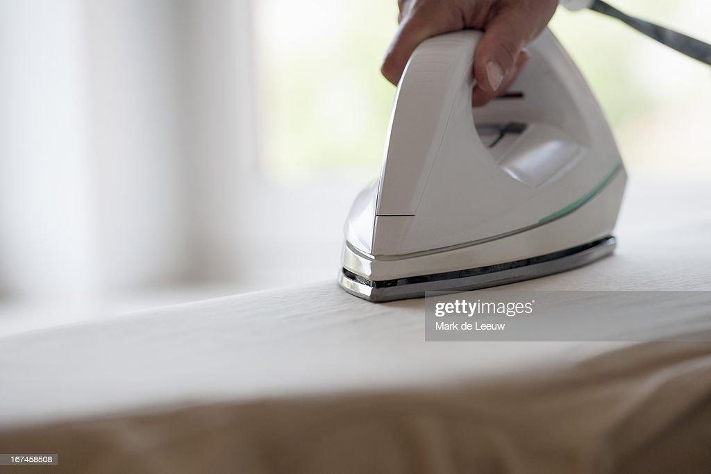 Holland, Goirle, woman ironing : ストックフォト