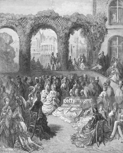 Holland HouseA Garden Party' 1872 After the death of 4th Baron Holland his wife continued to entertain London society at Holland House originally...
