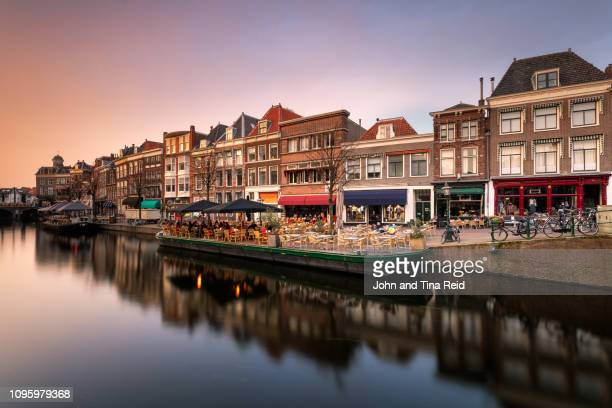 Holland, Leiden - Canal Sunset