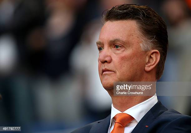 Holland manager Louis van Gaal during the International Friendly match between The Netherlands and Ecuador at The Amsterdam Arena on May 17, 2014 in...