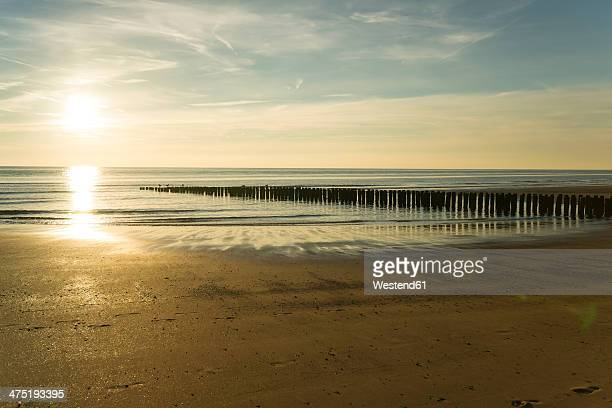 Holland, North Sea, coast, beach in the evening