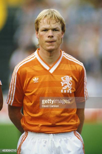 Holland player Ronald Koeman looks on before the Euro 88 qualifier between Holland and Hungary in Rotterdam on April 29 1987