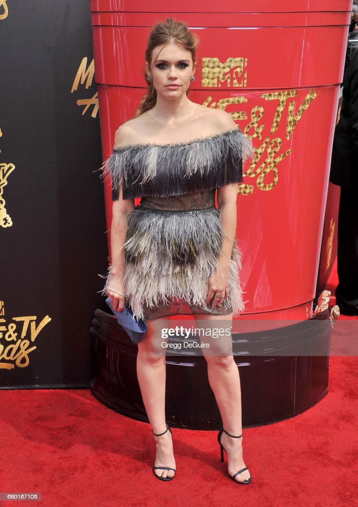 Holland Roden arrives at the 2017 MTV Movie And TV Awards at The Shrine Auditorium on May 7, 2017 in Los Angeles, California.