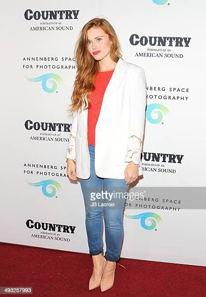 Holland Roden attends the Annenberg Space for Photography Opening Celebration for 'Country Portraits of an American Sound' at the Annenberg Space for...