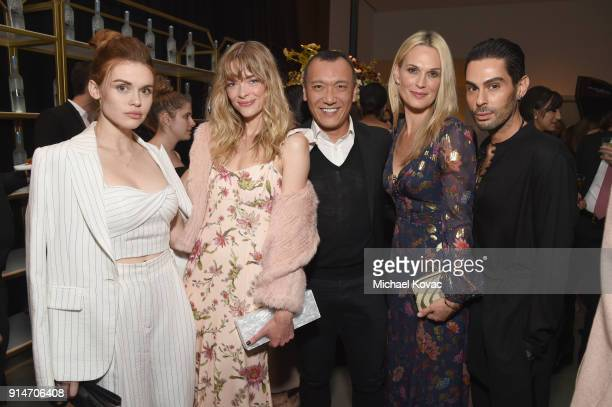 Holland Roden Jaime King Joe Zee Molly Sims and Joey Maalouf celebrate with Belvedere Vodka at the Rachel Zoe Fall 2018 Presentation in West...