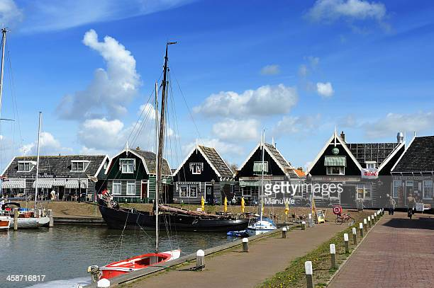 holland - small village marken at harbour - sonnig stock pictures, royalty-free photos & images